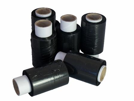 Mini Stretch Film Pallet Wrap Black 100mm x 150m