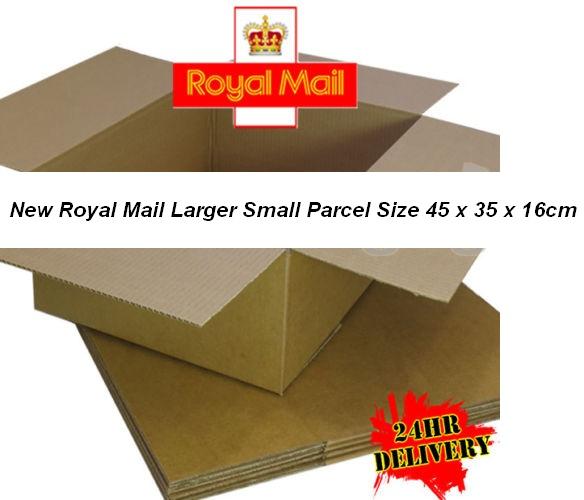Postal Box Royal Mail New Small Parcel 45 x 35 x 16cm