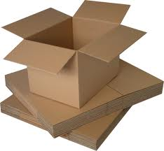 Rectangle shape small cardboard mailing / postal boxes 8 x 6 x 4