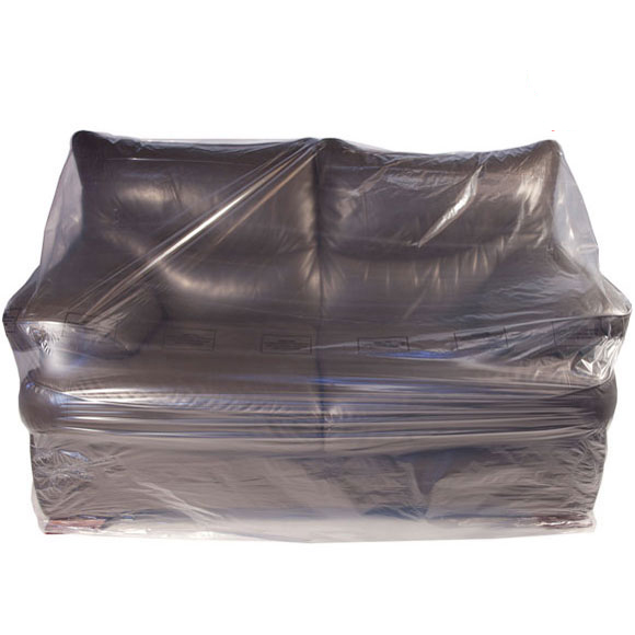 Clear Polythene 2-Seat Sofa Dust Cover Protection Storage Bags
