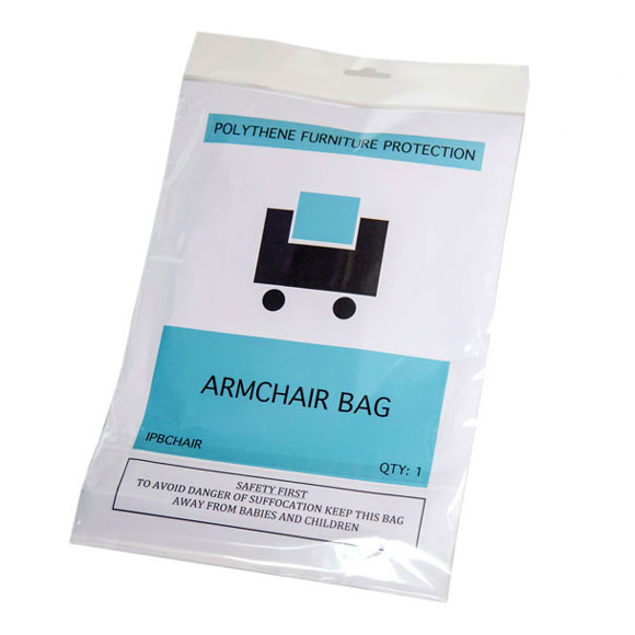 Clear Polythene Armchair Dust Cover Protection Storage Bags