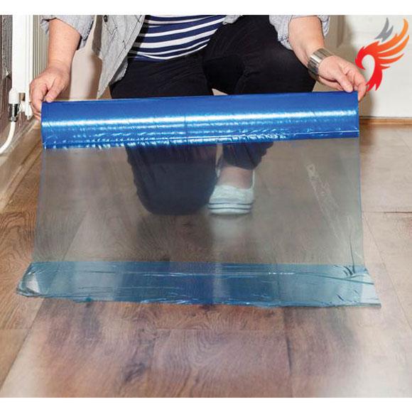 Polythene Wood / Laminate Protector Film, self adhesive 100m x 60cm