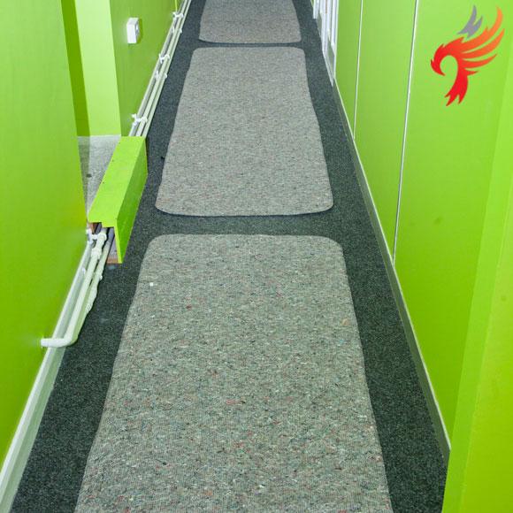 Reuseable Blanket & Foam Floor Protector Druggets