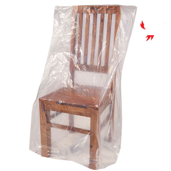 Clear Polythene Dining Chair Dust Covers