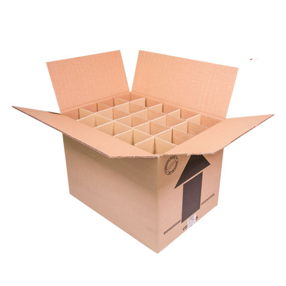 Double Wall Wine Bottle Box (holds 20) - 18 x 13 x 13