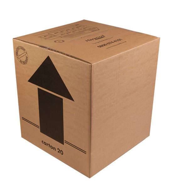 Large Double Wall Cardboard Boxes 18 x 18 x 20 Tea Chest aka Pack 2
