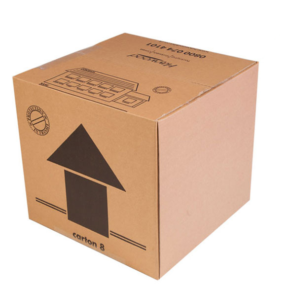 Medium Single Wall Cardboard Box - 14 x 14 x 13