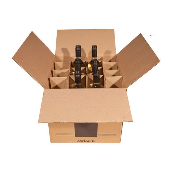 Single Wall Wine Bottle Box (holds 16) - 14 x 14 x 13