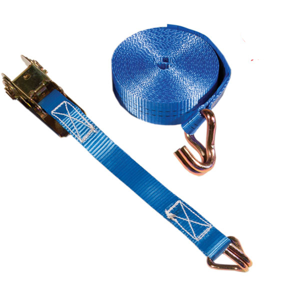 Ratchet Tiedown / Lashing Strap, 5m with claw hooks