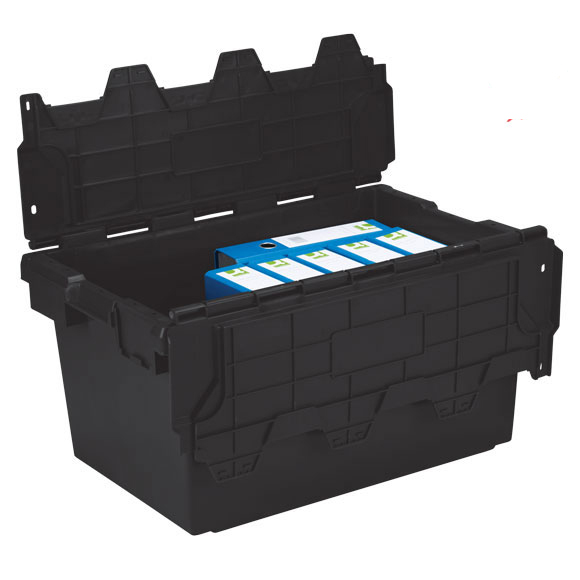 Plastic Storage Removal Crate, 80 litres, Black