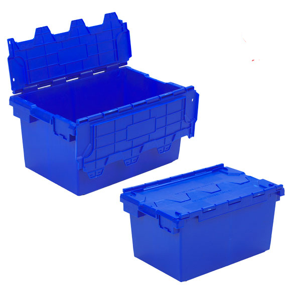 Plastic Storage Removal Crate, 80 litres, Red/Blue/Green