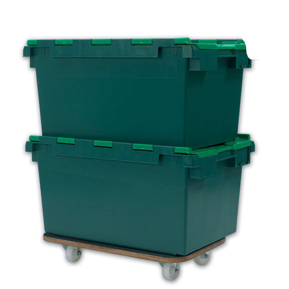 Plastic Storage Removal Crates, 78 litre