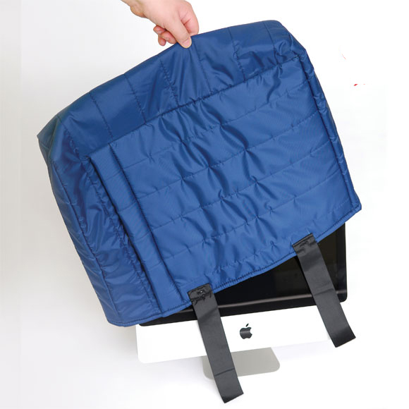 Strongwrap Quilted Furniture Covers - Hood Style Flat Screen Cover
