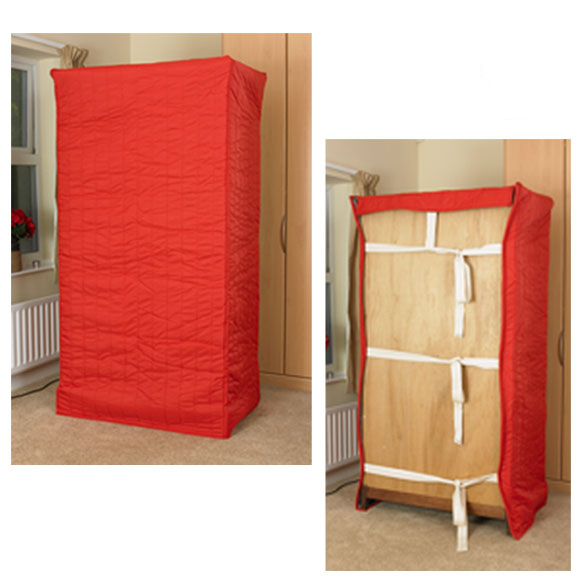 Strongwrap Quilted Furniture Covers - Wardrobe Cover