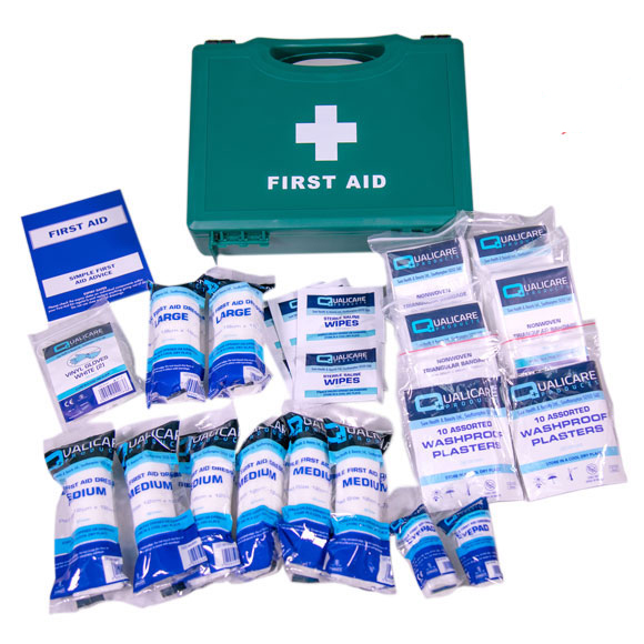 First Aid Kit in Hard Case, 10-Person, HSE Approved