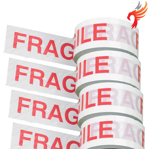 Fragile printed Parcel Packing Tape, roll size 48mm x 66m