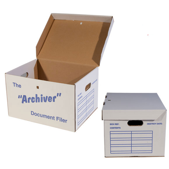 Archive Box with integral lid, standard size