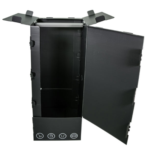 Tall Black Plastic Wardrobe Boxes Professional, multi-use