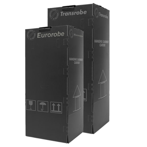 Short Black Plastic Wardrobe Boxes Professional, multi-use
