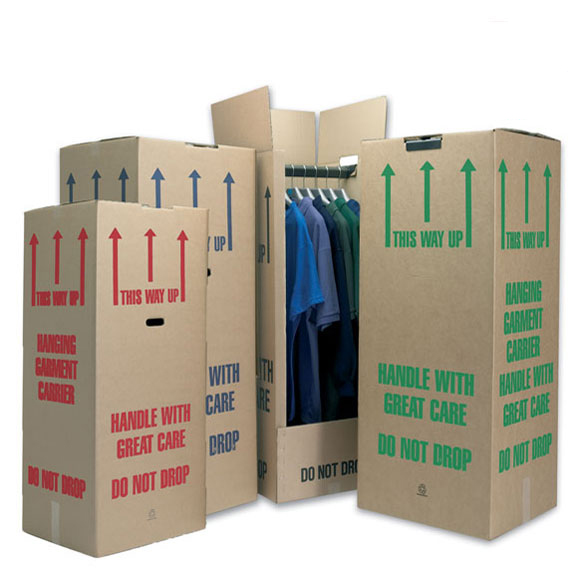 12 Pack Tall Cardboard Wardrobe Boxes Standard (48)