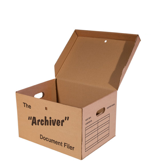Archive Box with integral lid, Super Size